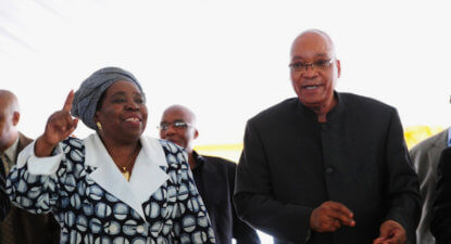Zuma publicly backs his ex to fill his shoes – influential radio broadcast