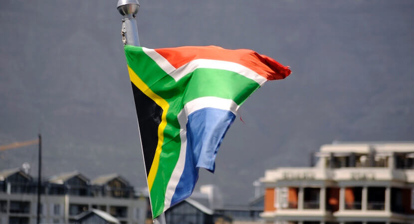 Proudly South African ambassadors (with visas) flying the flag aboard