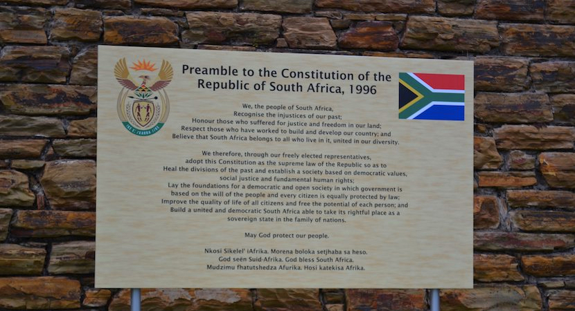 The Constitution of the Republic of South Africa, 1996