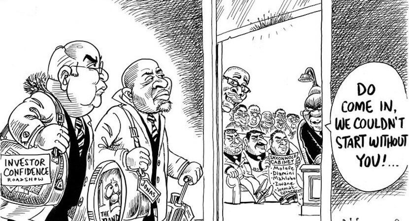 """Could events at 'Uncle Kathy's"""" funeral save Gordhan? ANC top brass split…"""