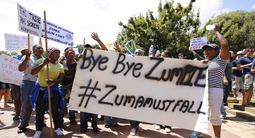 South Africans call for Zuma's head as #Zumicon plunges country into deep crisis