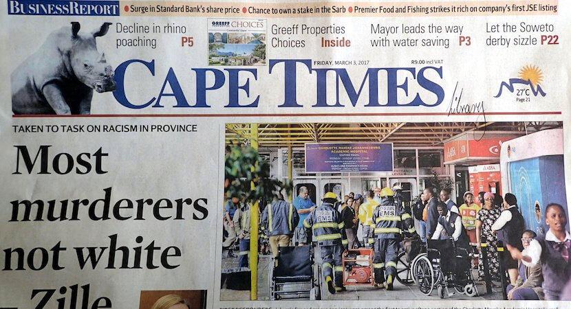 Cape Times political gymnastics knocks it off the balance beam