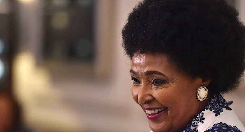 Winnie Madikizela-Mandela at her 80th birthday celebrations held at Mount Nelson Hotel in Cape Town