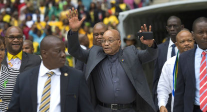 Zuma plays 'God' card to push radical transformation. Copying Angus Buchan?