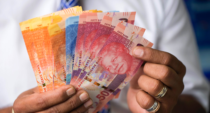 Image result for cash south african rands in hand