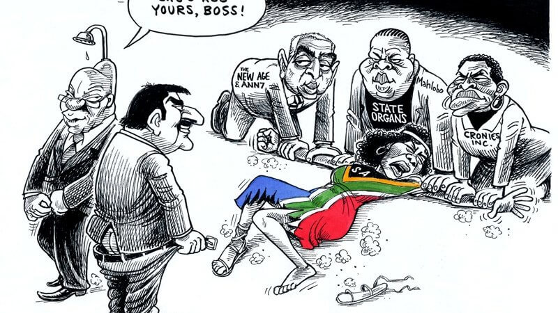 She's all yours, boss! Is #Zupta SA rape cartoon a step too far for Zapiro?