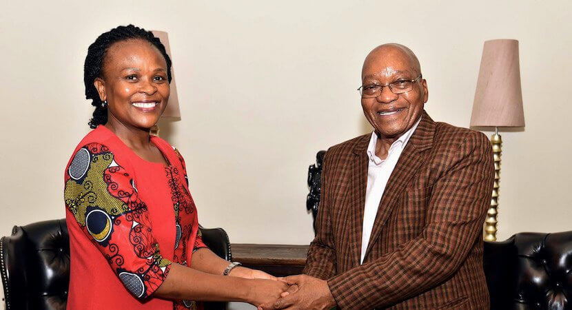 No surprises: Mkhwebane backs Zuma's call for a wider State Capture probe