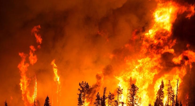 Table Mountain blaze