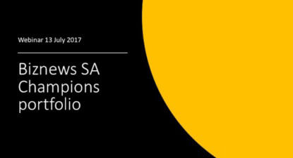 WEBINAR: Weaker Rand pushes SA Champions into the green