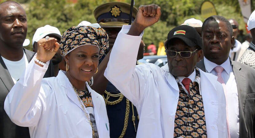 Zimbabwe's recurring nightmare: Robert and Grace Mugabe stage comeback