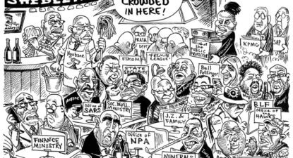Last round called at the Saxonwold Shebeen
