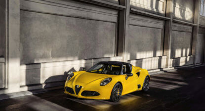 Alfa Romeo 4C Spider: A visceral experience