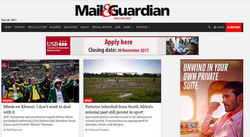 mail and guardian dating south africa