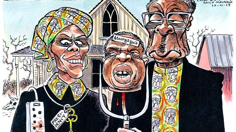 Zimbabwe despots Robert and Grace Mugabe show Zuma family how to install a dynasty