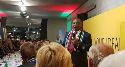 Ramaphosa practising his WEF's four lions hunting strategy