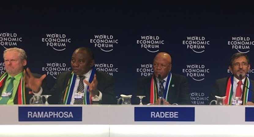 On the record: Ramaphosa and team's WEF press conference