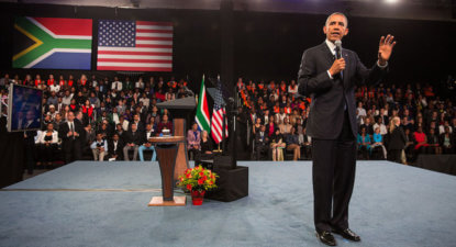 Barack Obama's plea for a return to global Ubuntu locally pertinent