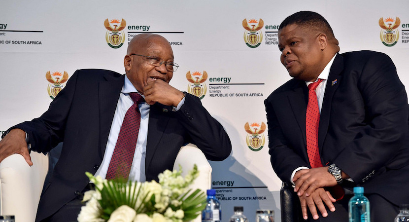 Jacob Zuma David Mahlobo