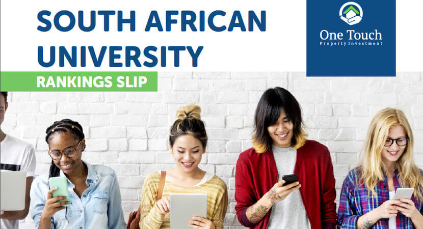 South African university rankings slip