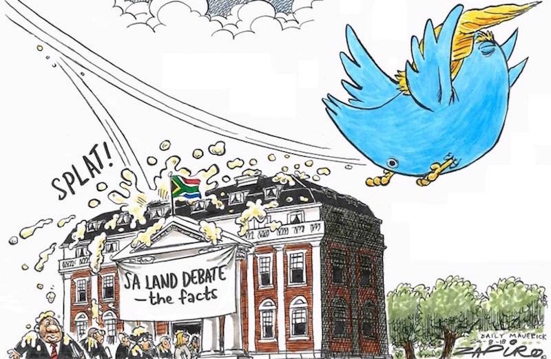 Twitter Fallout, Zapiro, SA land debate