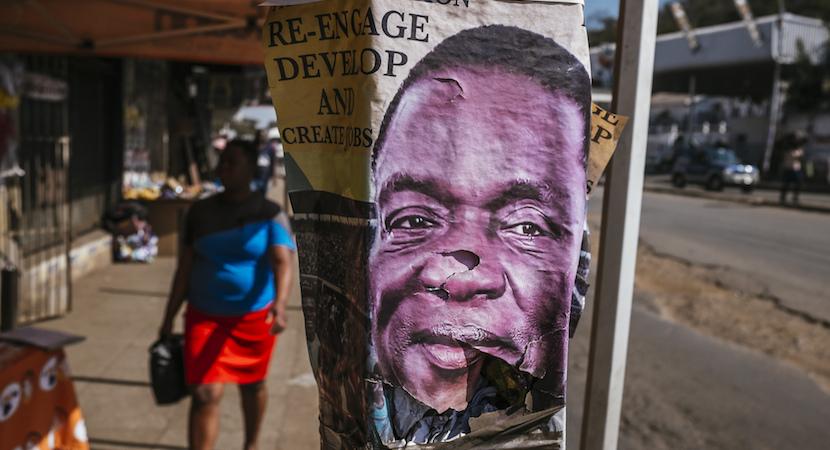 Zimbabwe vote poster Emmerson Mnangagwa