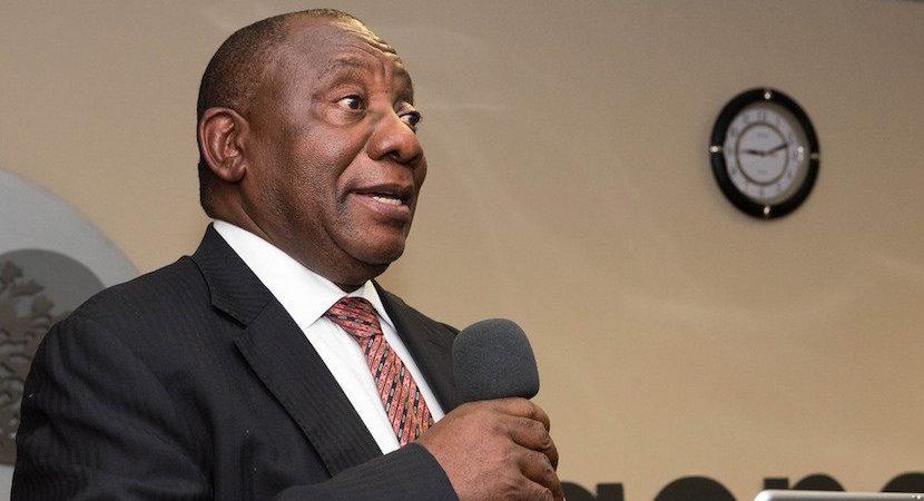 Cyril Ramaphosa, SA president