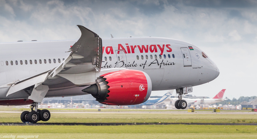 Kenya Airways, airplanes, airlines