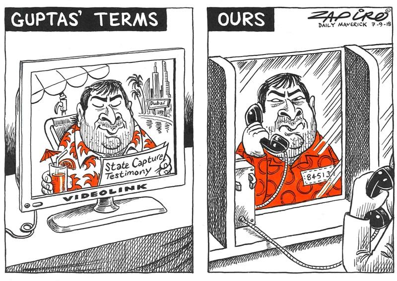 Guptas, Zondo Commission, Zapiro