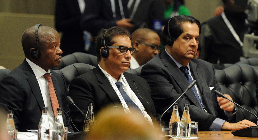 David Mabuza, Iqbal Survé and K.V. Kamath