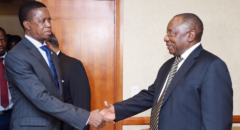 Cyril Ramaphosa, Edgar Lungu, Zambia