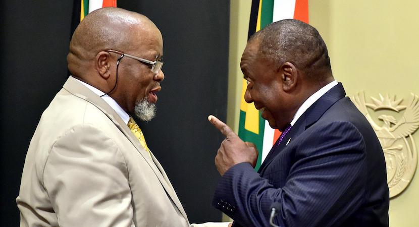 Gwede Mantashe, Cyril Ramaphosa