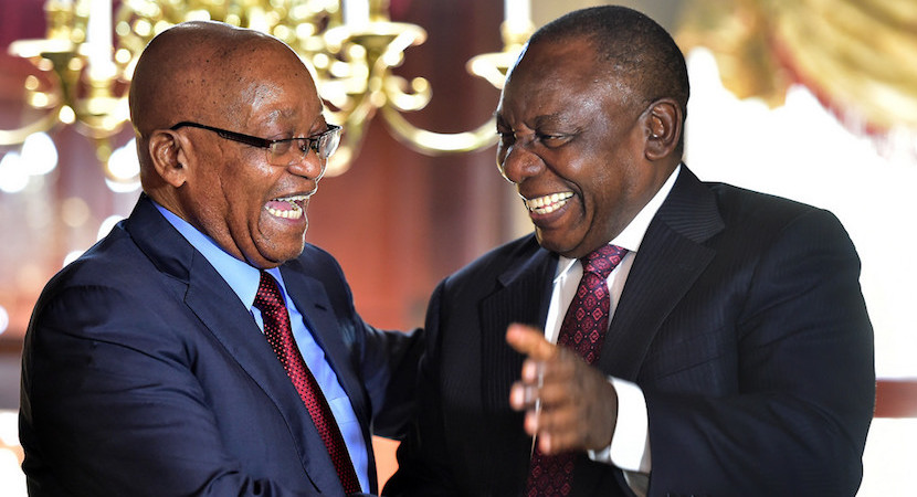 Cyril Ramaphosa, Jacob Zuma