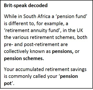 Brit speak pension fund