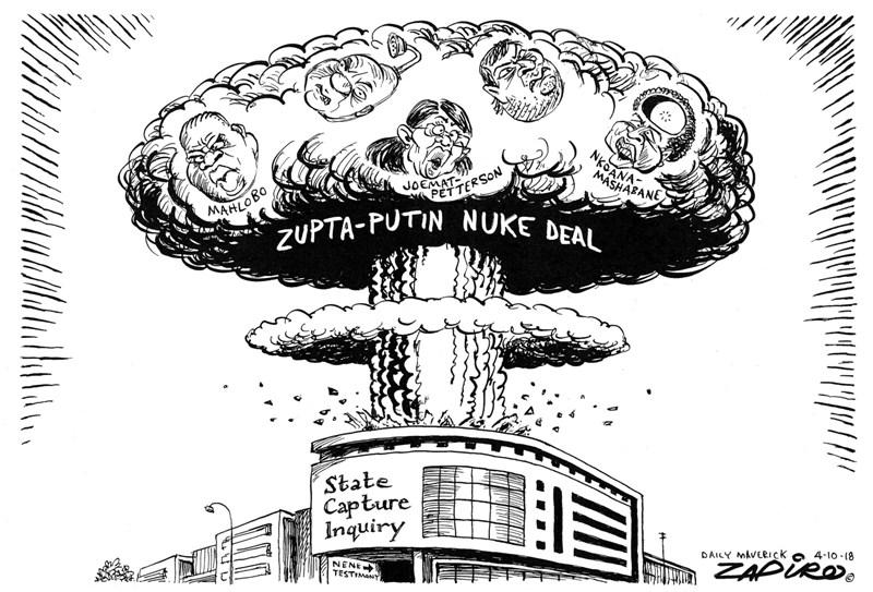 Nhlanhla Nene, Zapiro, State Capture testimony