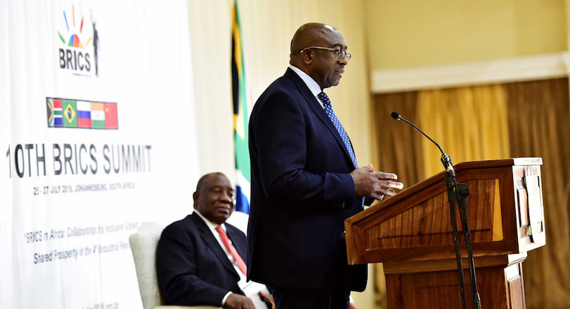 Nhlanhla Nene, Cyril Ramaphosa