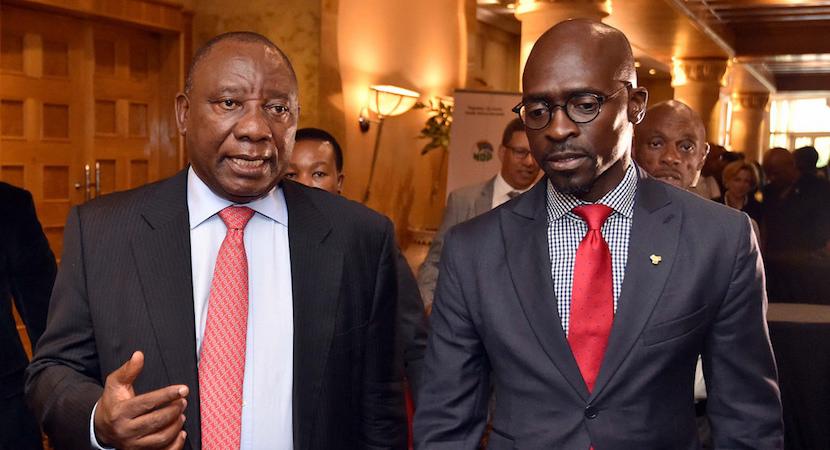 Cyril Ramaphosa & Malusi Gigaba ANC