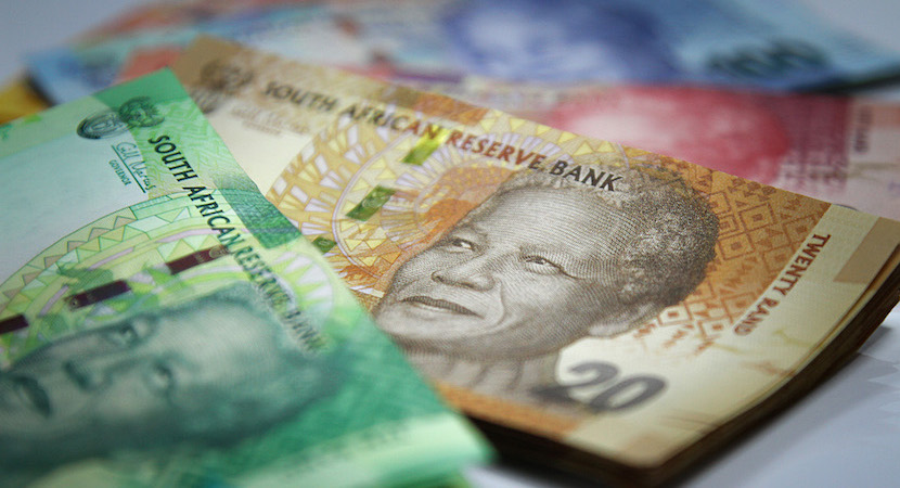 Rand, bank notes, government bonds