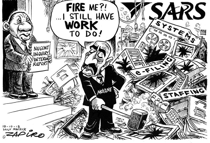 Tom Moyane, SARS, Nugent Commission