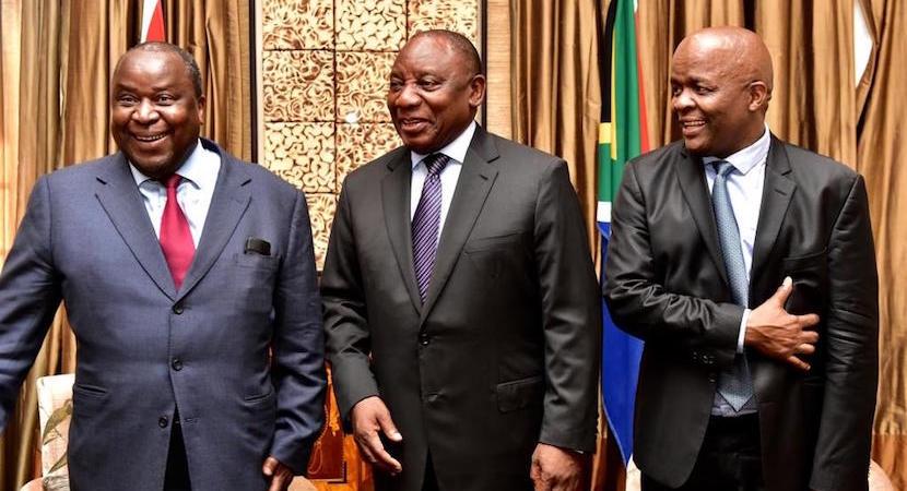 Tito Mboweni, Cyril Ramaphosa ANC election
