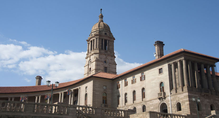The Eastern wing of The Union Buildings, in Pretoria, South Africa.
