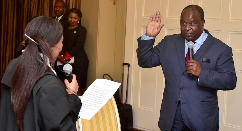 Tito Mboweni sworn in as Minister of Finance.