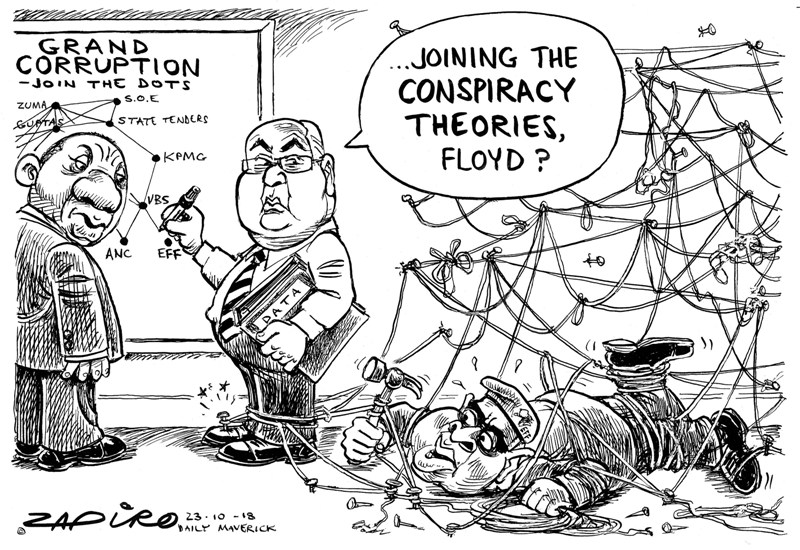 Pravin Gordhan Corruption Dots