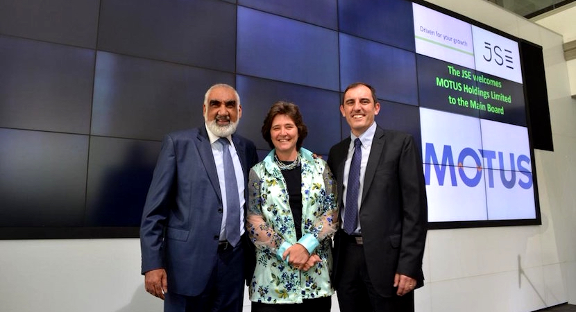 MOTUS Holdings Limited's listing on the JSE Main Board. Pic Credit: @JSE_Group