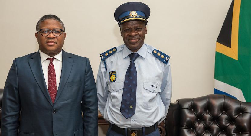 Fikile Mbalula and Khehla Sitole
