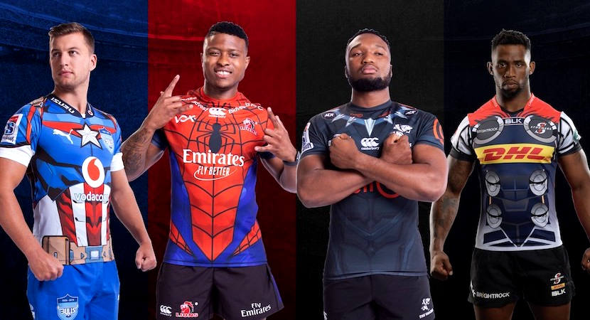 Super Rugby, Marvel action heroes