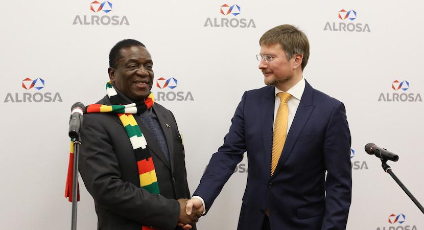 Zimbabwe Emmerson Mnangagwa Alrosa