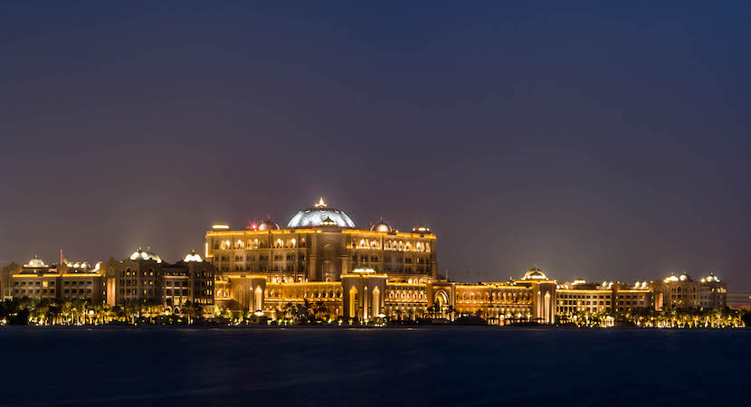 Emirates Palace Hotel in Abu Dhabi.