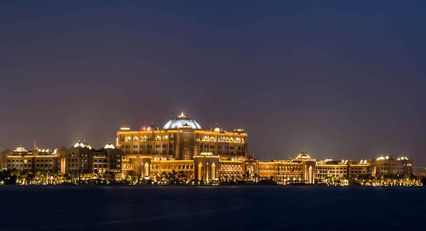 Emirates Palace Hotel in Abu Dhabi.