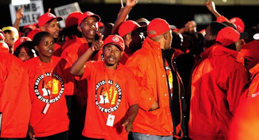 NUM members file photo