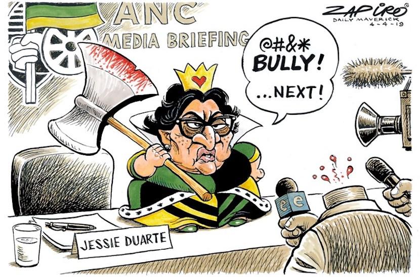 Jessie Duarte, Zapiro
